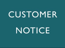 Customer Notice: COVID-19 Coronavirus